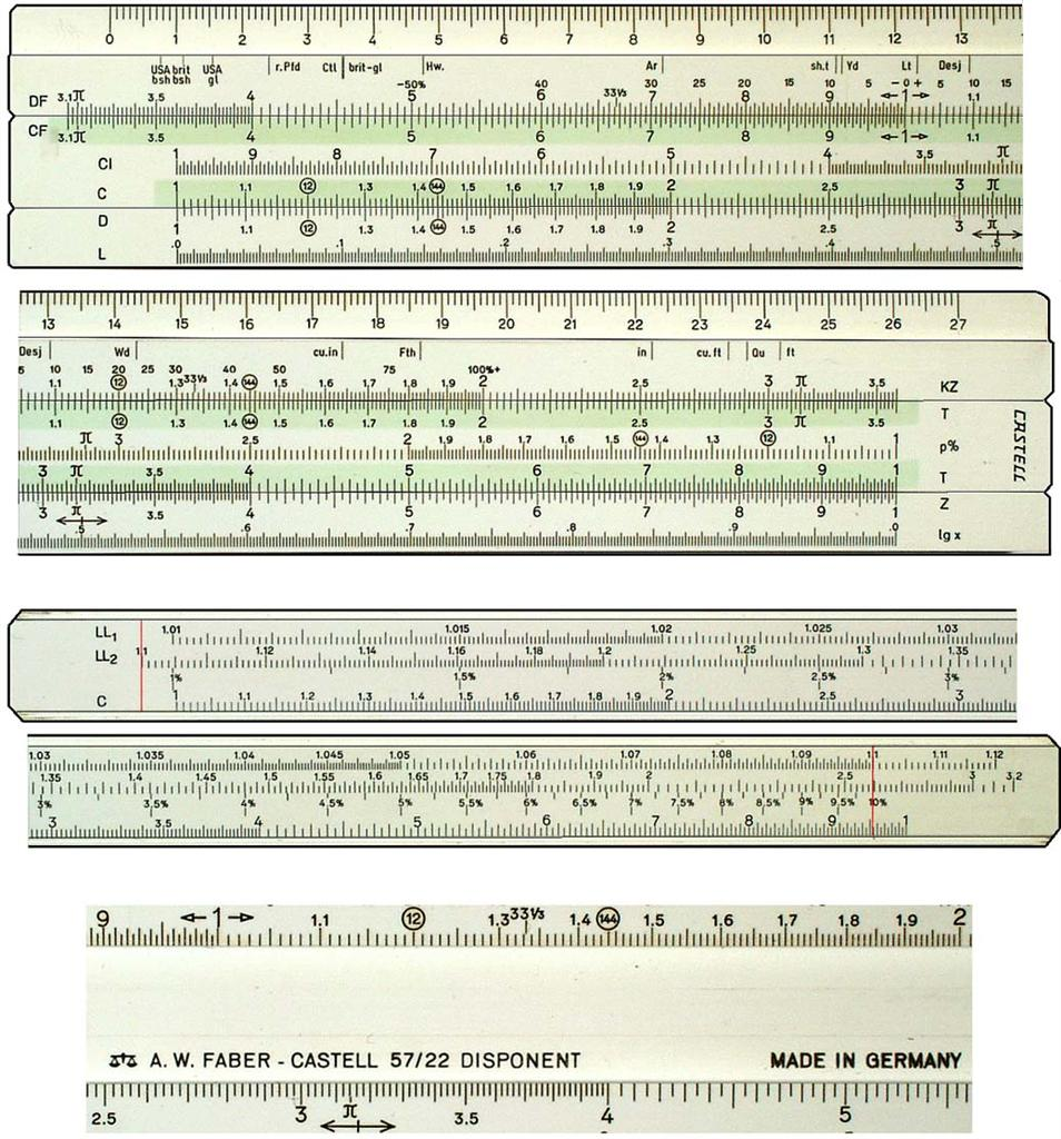 faber castell 57 87 slide rule instructions
