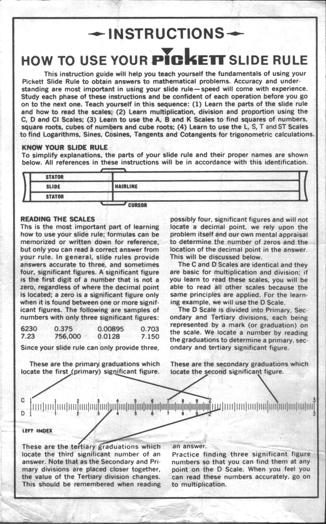 Isrmm308pickett160instbillwehrendcollectiong isrm m308 how to use your pickett slide rule comes with model 160 plastic pickett pickett inc irvine ca 92705 usa falaconquin