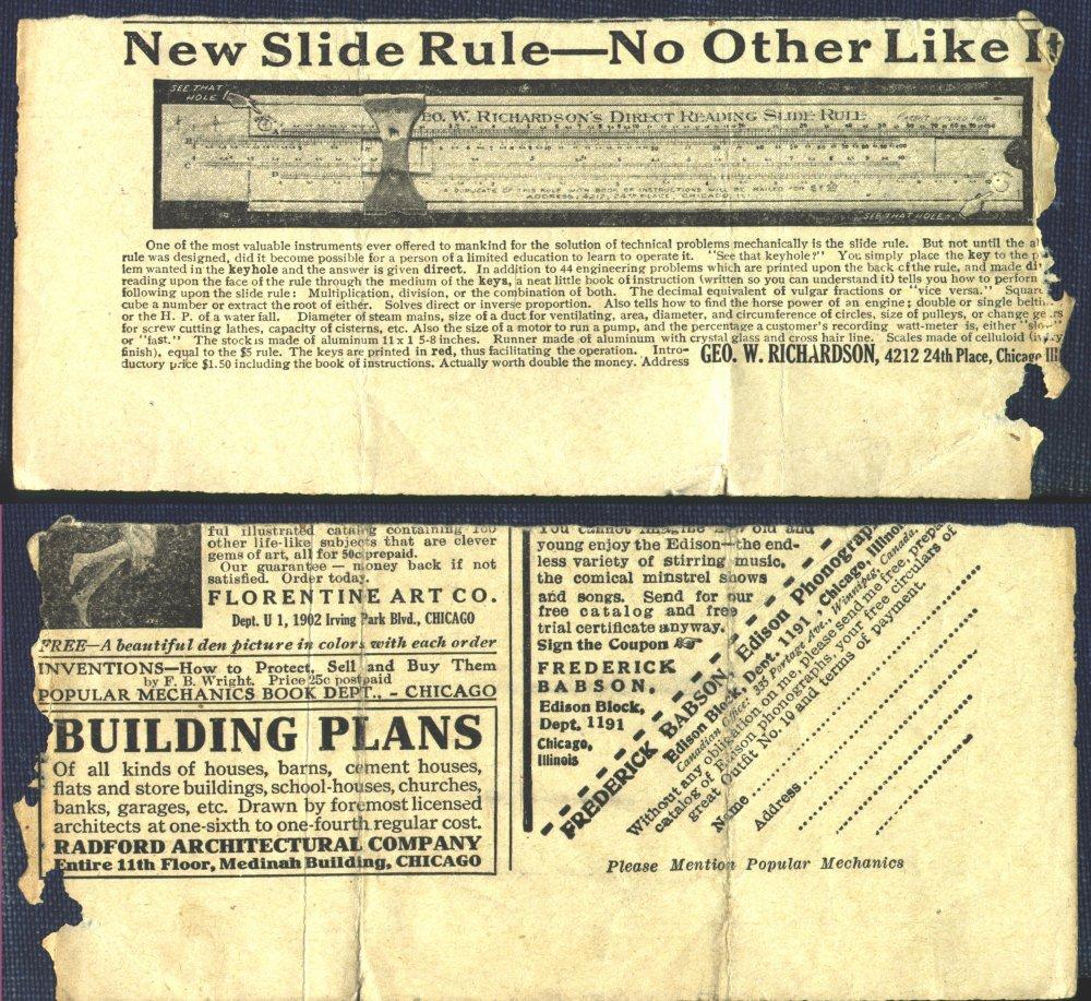 Faber Castell Mercury 110 9 8 Hp Wiring Diagram 1910 Popular Mechanics Advertisement