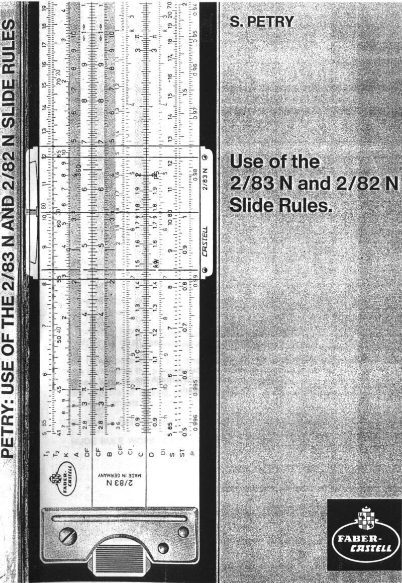 faber castell slide rule instructions