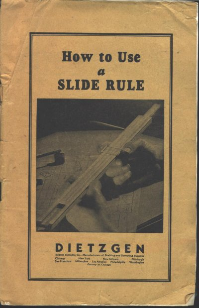 the slide rule and how to use it